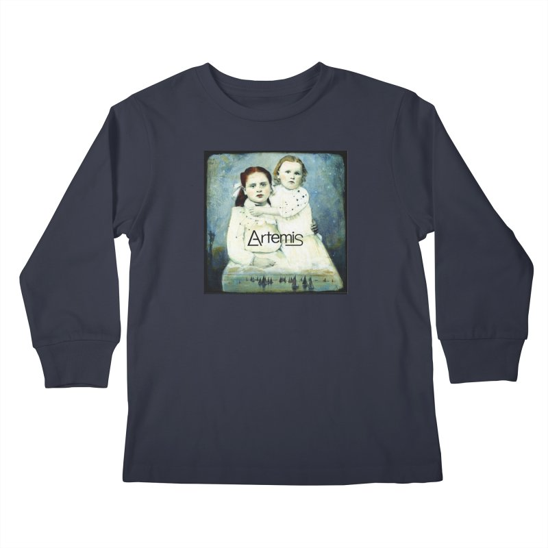 Cassiopeia and Her Sister by Tricia Scott [with ARTEMIS LOGO] Kids Longsleeve T-Shirt by Artemis Journal's Artist Shop