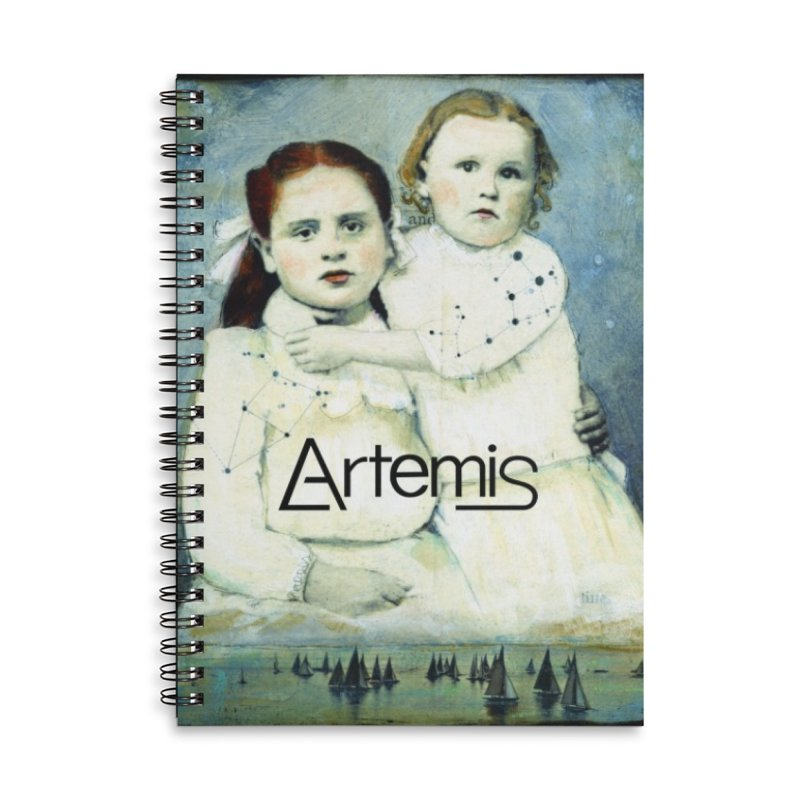Cassiopeia and Her Sister by Tricia Scott [with ARTEMIS LOGO] Accessories Notebook by Artemis Journal's Artist Shop
