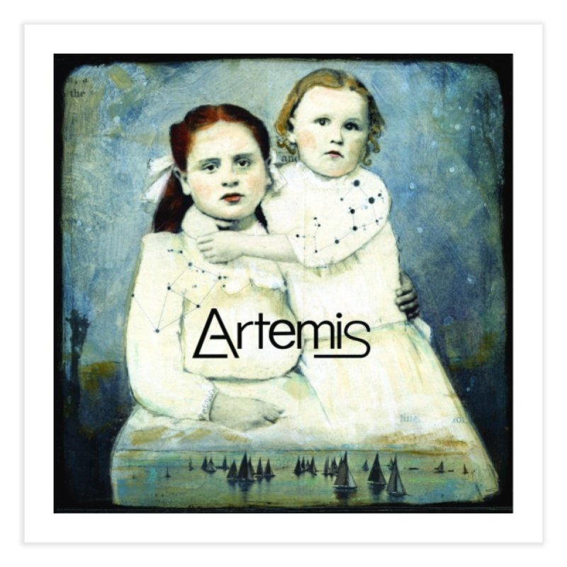 Cassiopeia and Her Sister by Tricia Scott [with ARTEMIS LOGO] Home Fine Art Print by Artemis Journal's Artist Shop