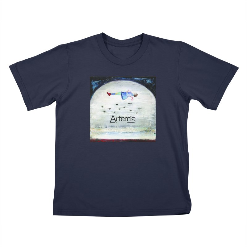 To The Realm Of The Stars by Tricia Scott [with ARTEMIS LOGO] Kids T-Shirt by Artemis Journal's Artist Shop
