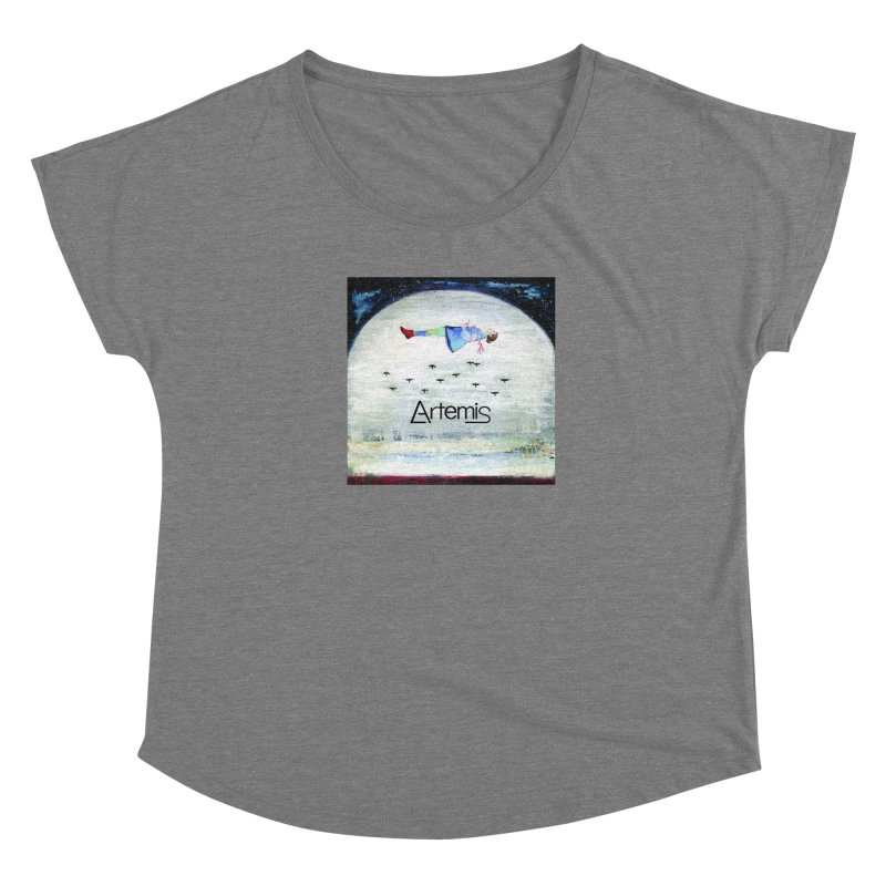 To The Realm Of The Stars by Tricia Scott [with ARTEMIS LOGO] Women's Scoop Neck by Artemis Journal's Artist Shop