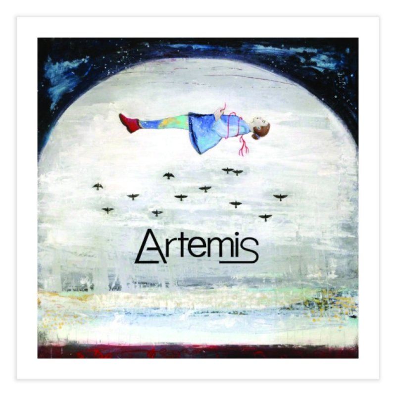 To The Realm Of The Stars by Tricia Scott [with ARTEMIS LOGO] Home Fine Art Print by Artemis Journal's Artist Shop