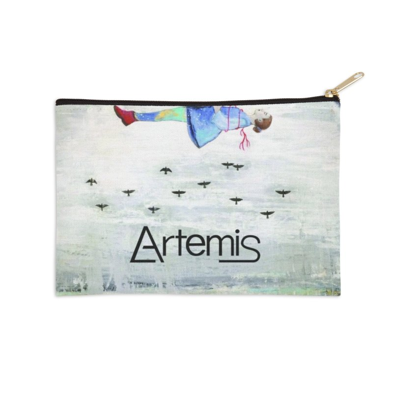 To The Realm Of The Stars by Tricia Scott [with ARTEMIS LOGO] Accessories Zip Pouch by Artemis Journal's Artist Shop