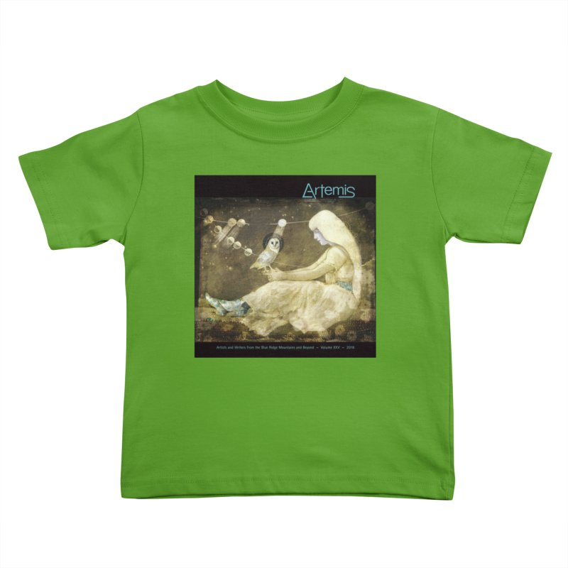The Owl of Good Fortune by Tricia Scott Kids Toddler T-Shirt by Artemis Journal's Artist Shop