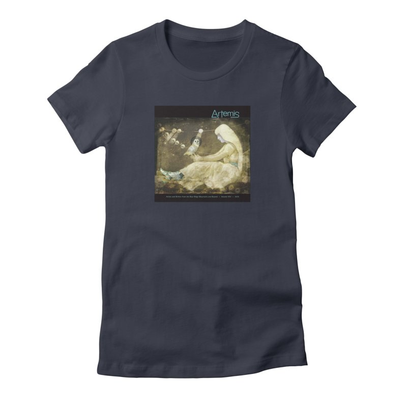 The Owl of Good Fortune by Tricia Scott Women's T-Shirt by Artemis Journal's Artist Shop