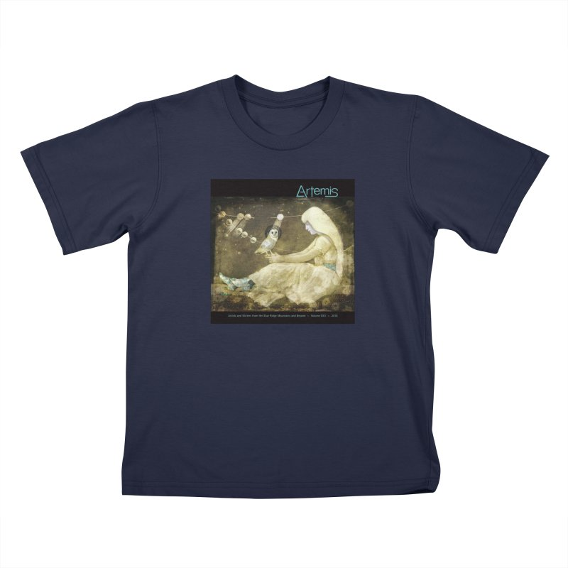 The Owl of Good Fortune by Tricia Scott Kids T-Shirt by Artemis Journal's Artist Shop