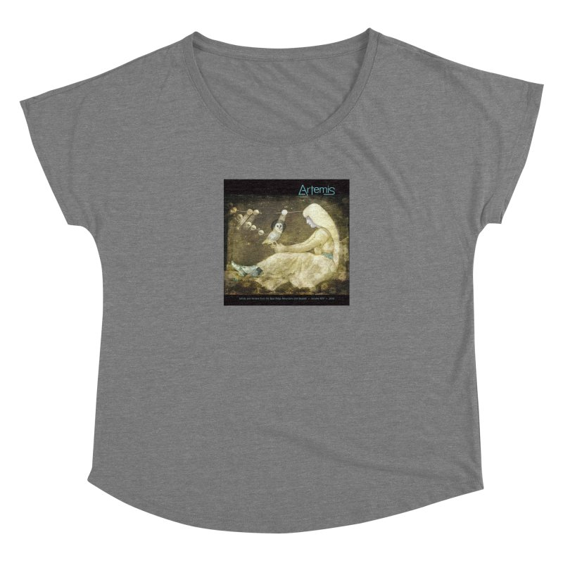 The Owl of Good Fortune by Tricia Scott Women's Scoop Neck by Artemis Journal's Artist Shop