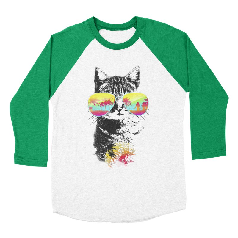 Cat Breeze Women's Baseball Triblend T-Shirt by Artemple Shop