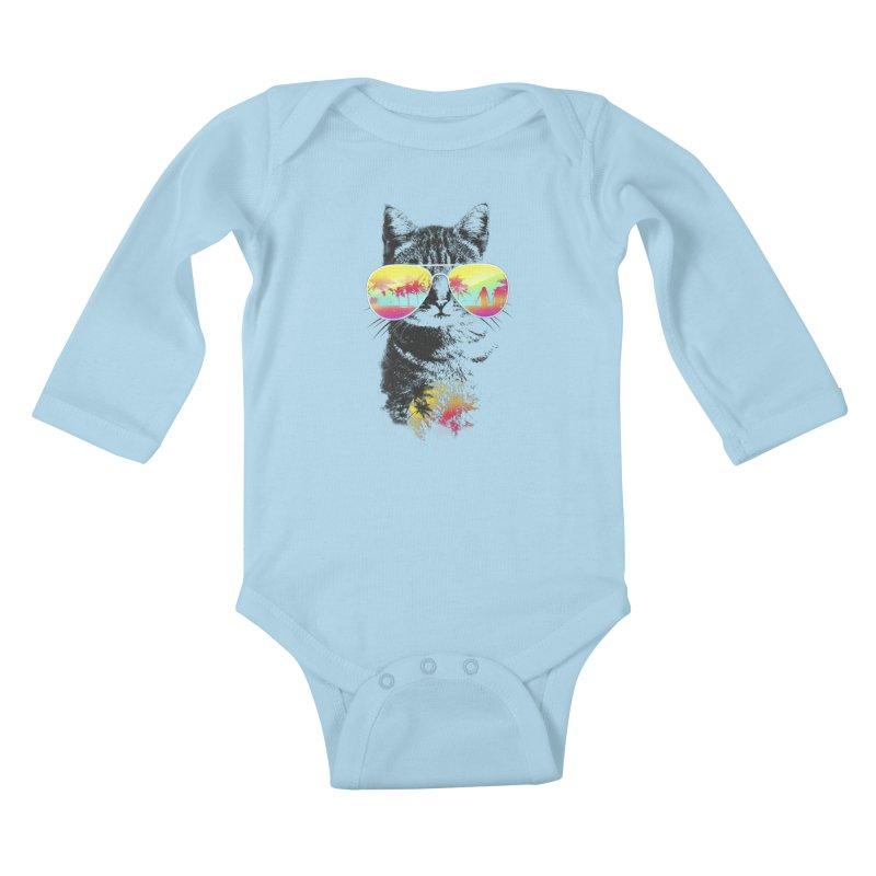 Cat Breeze Kids Baby Longsleeve Bodysuit by Artemple Shop