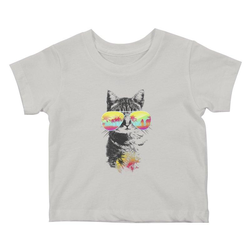 Cat Breeze Kids Baby T-Shirt by Artemple Shop