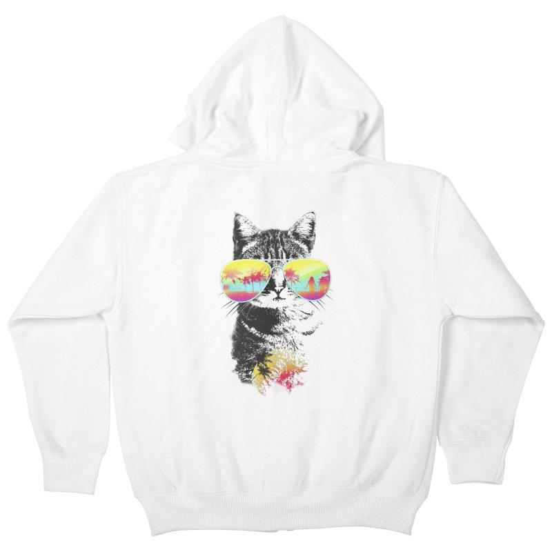 Cat Breeze Kids Zip-Up Hoody by Artemple Shop