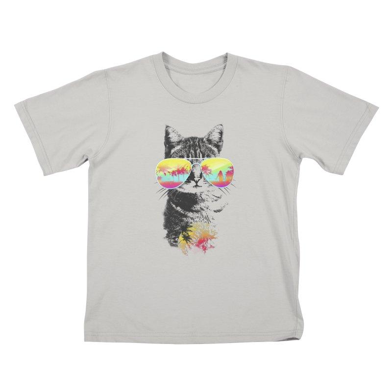 Cat Breeze Kids T-shirt by Artemple Shop