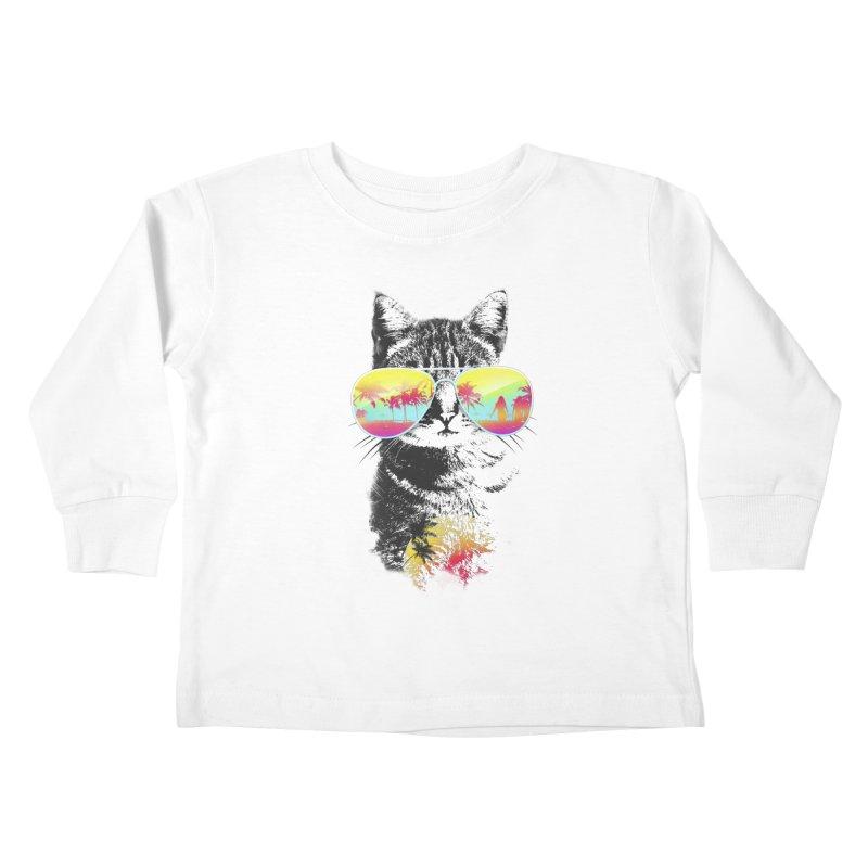 Cat Breeze Kids Toddler Longsleeve T-Shirt by Artemple Shop