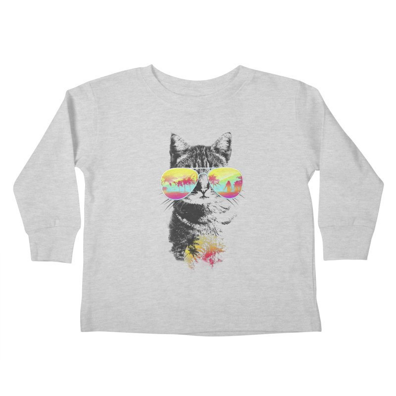 Cat Breeze Kids Toddler Longsleeve T-Shirt by Artemple Shop