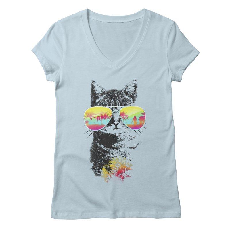 Cat Breeze Women's V-Neck by Artemple Shop