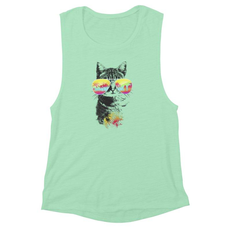 Cat Breeze Women's Muscle Tank by Artemple Shop