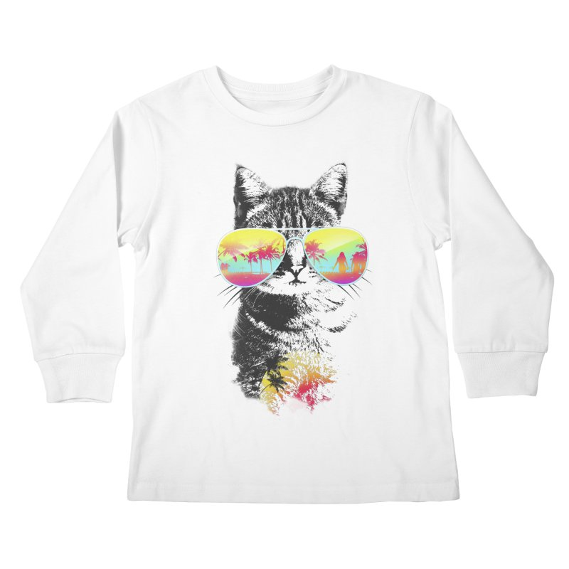 Cat Breeze Kids Longsleeve T-Shirt by Artemple Shop