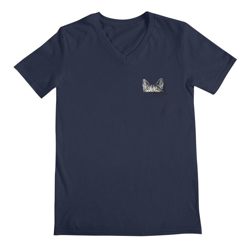 I've got a cat in my pocket Men's V-Neck by Artemple Shop