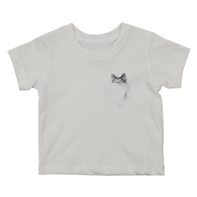 I've got a cat in my pocket Kids Baby T-Shirt by Artemple Shop