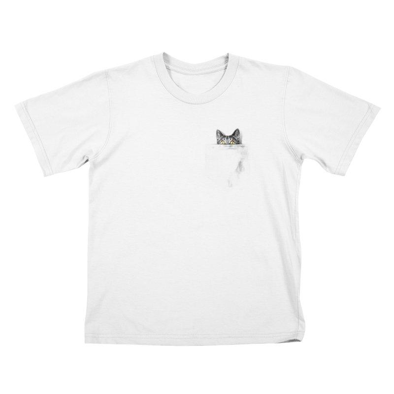 I've got a cat in my pocket Kids T-Shirt by Artemple Shop