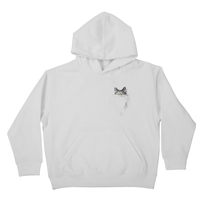 I've got a cat in my pocket Kids Pullover Hoody by Artemple Shop