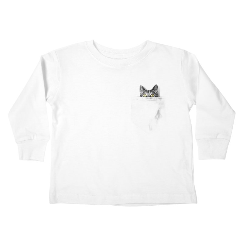 I've got a cat in my pocket Kids Toddler Longsleeve T-Shirt by Artemple Shop