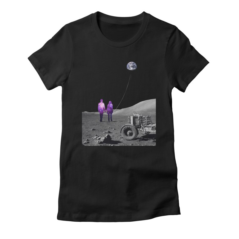 Moonwalk Women's Fitted T-Shirt by Artemple Shop