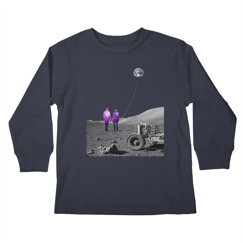 Moonwalk Kids Longsleeve T-Shirt by Artemple Shop