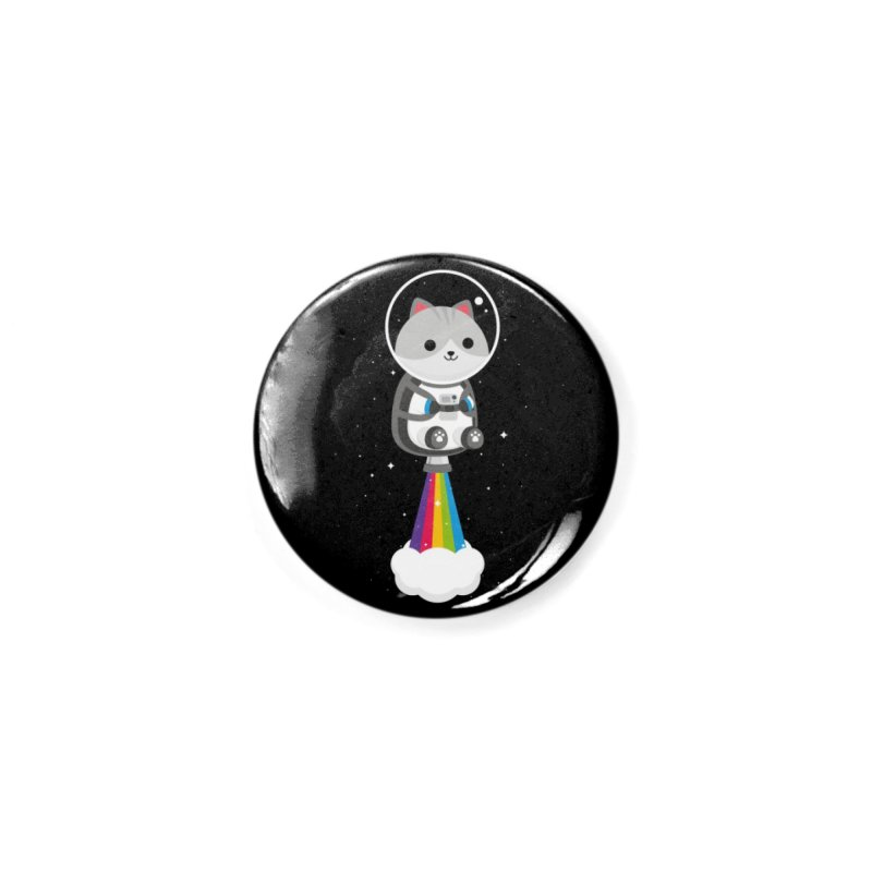 Space Cat Accessories Button by May's Studio