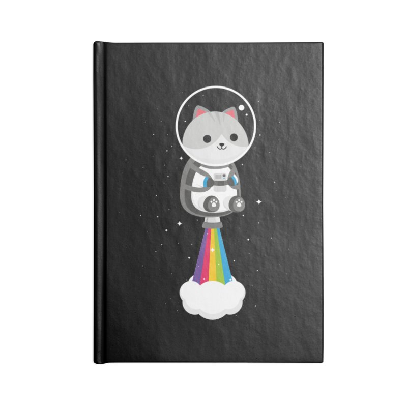 Space Cat Accessories Notebook by May's Studio