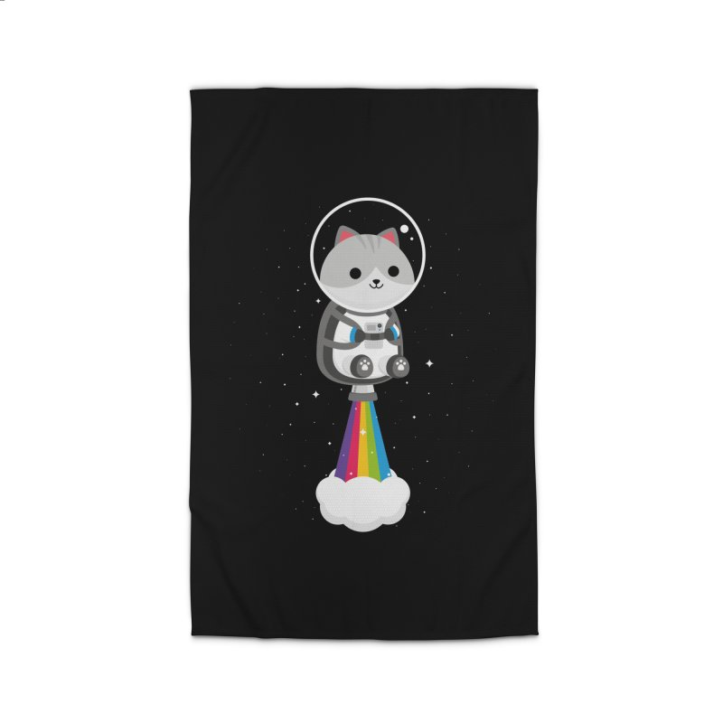 Space Cat Home Rug by May's Studio
