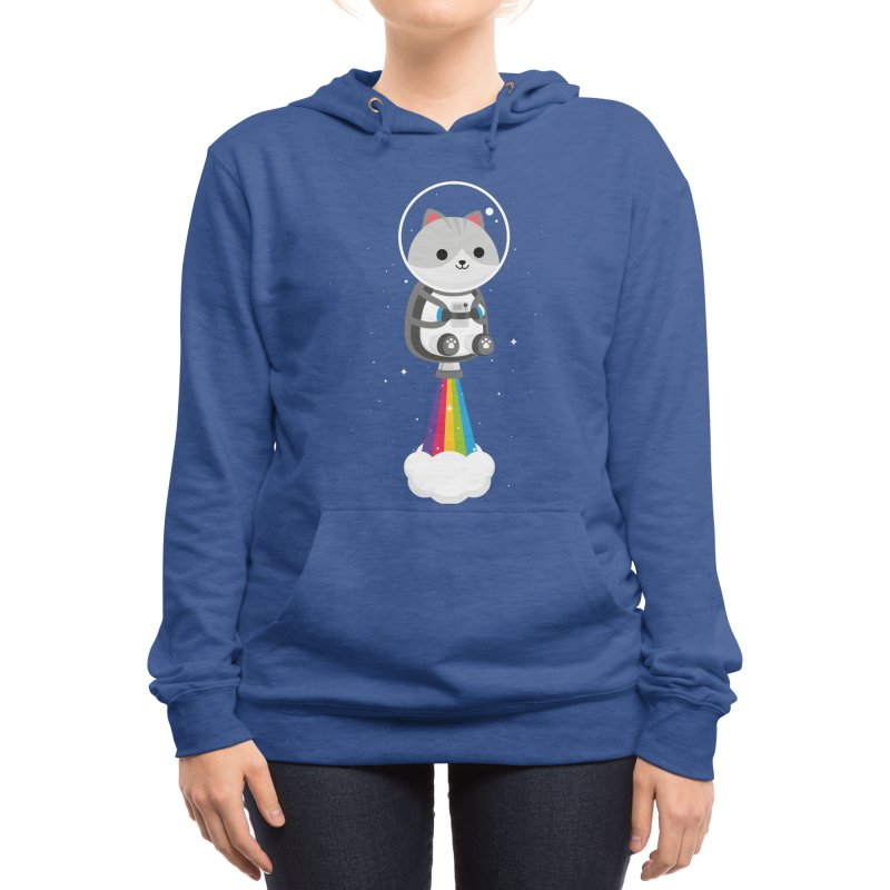 Space Cat Women's Pullover Hoody by May's Studio