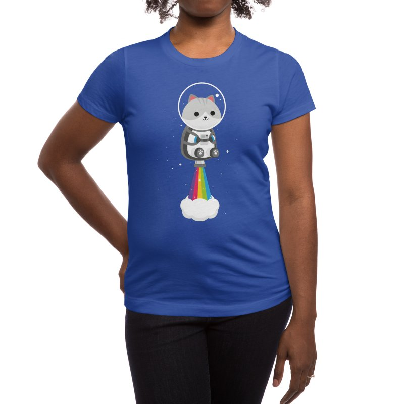 Space Cat Women's T-Shirt by May's Studio