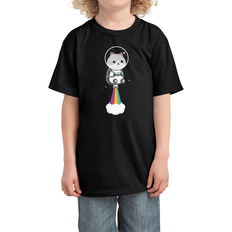 Space Cat Kids T-Shirt by May's Studio