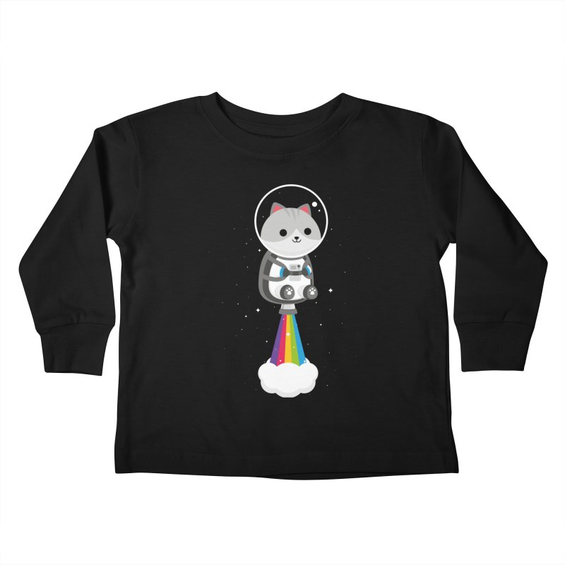 Space Cat Kids Toddler Longsleeve T-Shirt by May's Studio