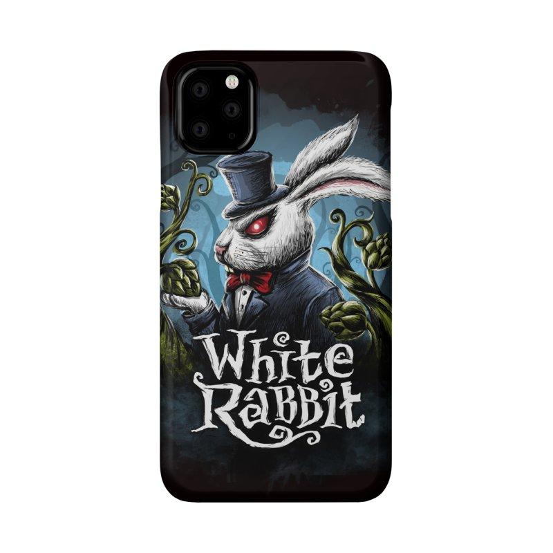white rabbit Accessories Phone Case by artfanat.shop