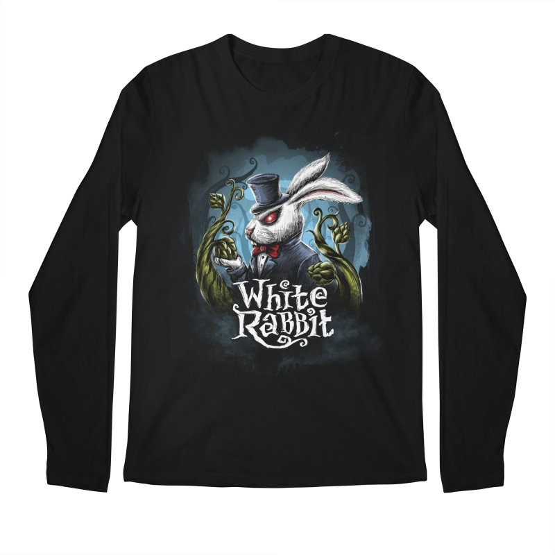 white rabbit Men's Regular Longsleeve T-Shirt by artfanat.shop