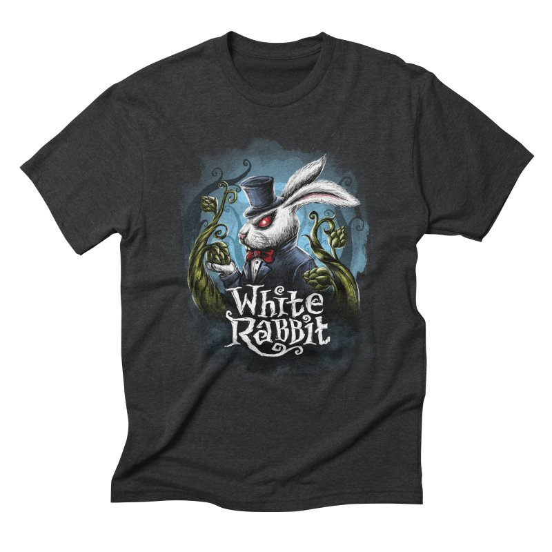 white rabbit Men's Triblend T-Shirt by artfanat.shop