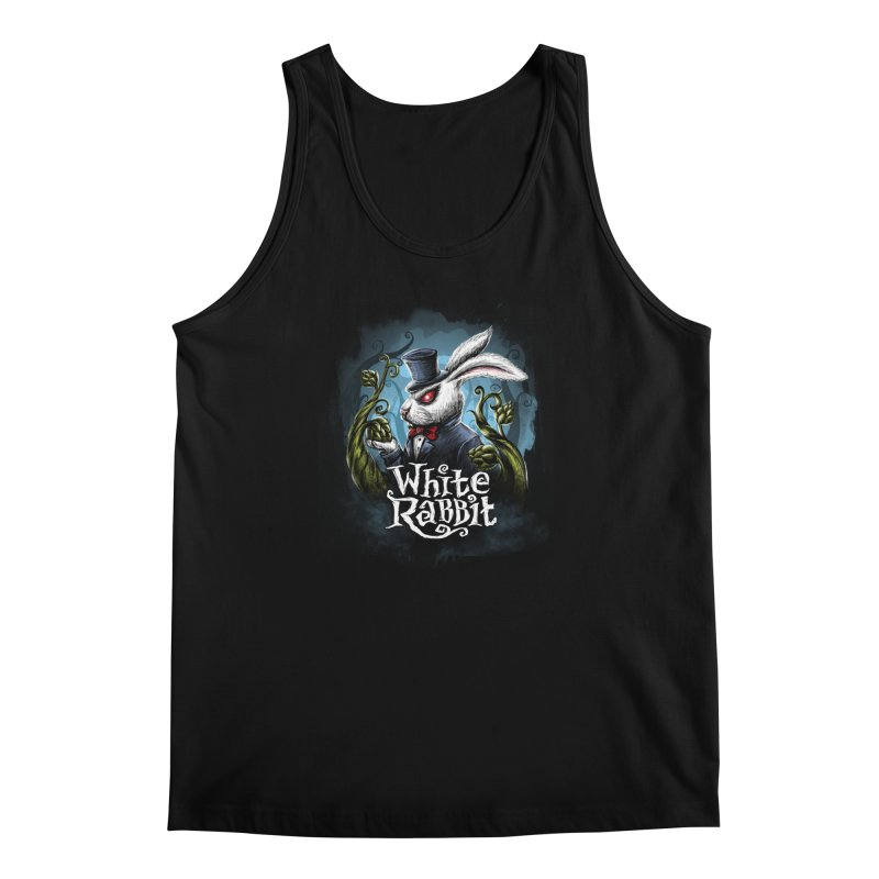 white rabbit Men's Regular Tank by artfanat.shop