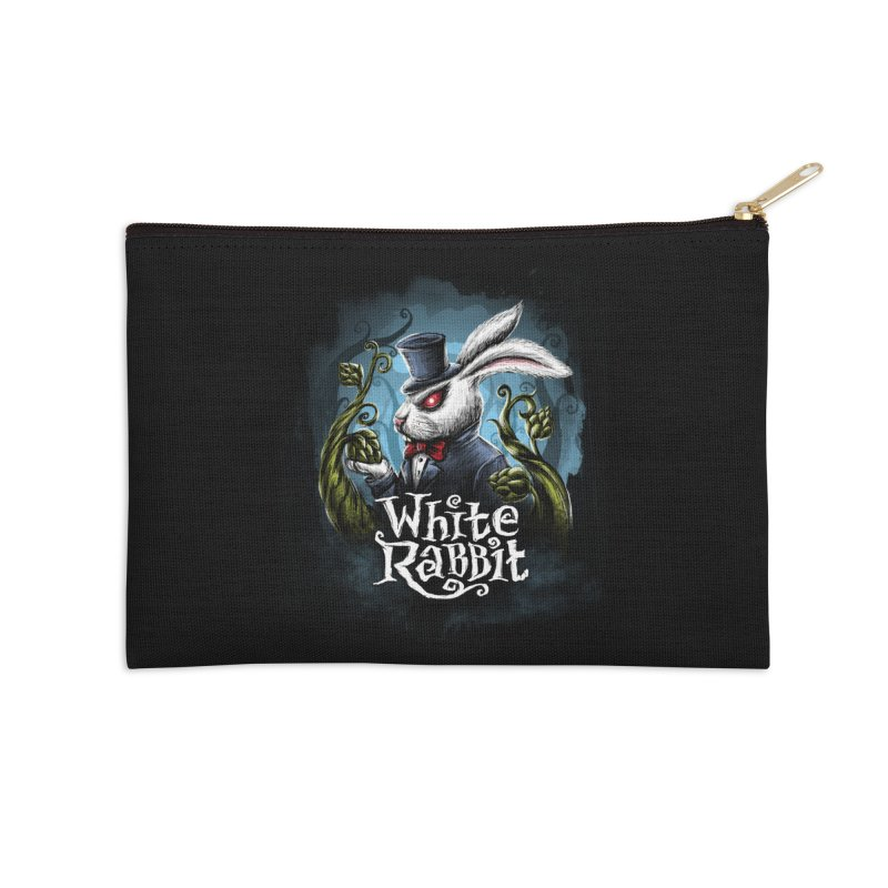 white rabbit Accessories Zip Pouch by artfanat.shop