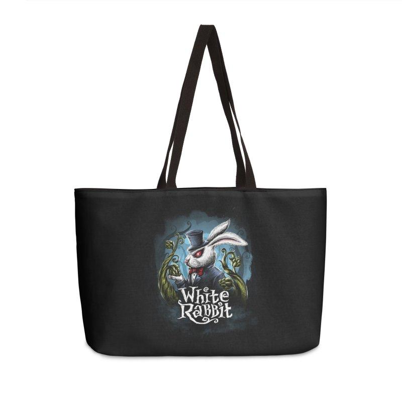 white rabbit Accessories Weekender Bag Bag by artfanat.shop