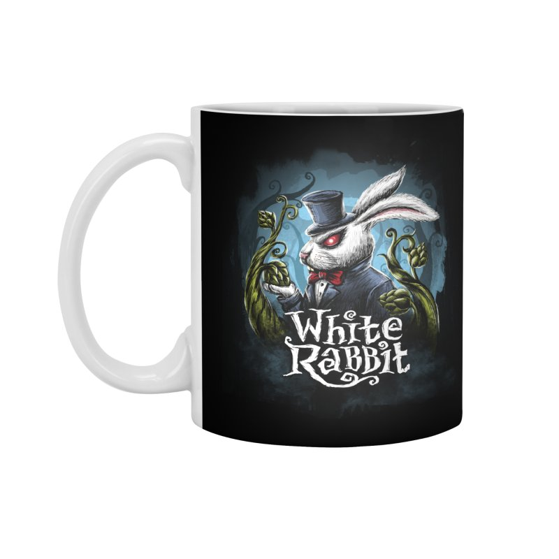 white rabbit Accessories Standard Mug by artfanat.shop