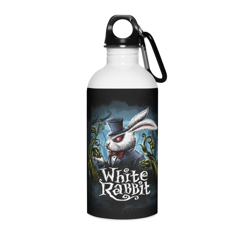 white rabbit Accessories Water Bottle by artfanat.shop
