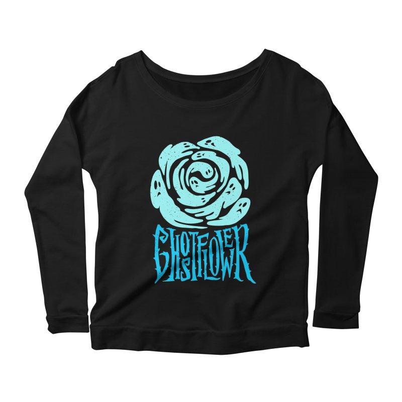 GhostFlower Women's Scoop Neck Longsleeve T-Shirt by artfanat.shop