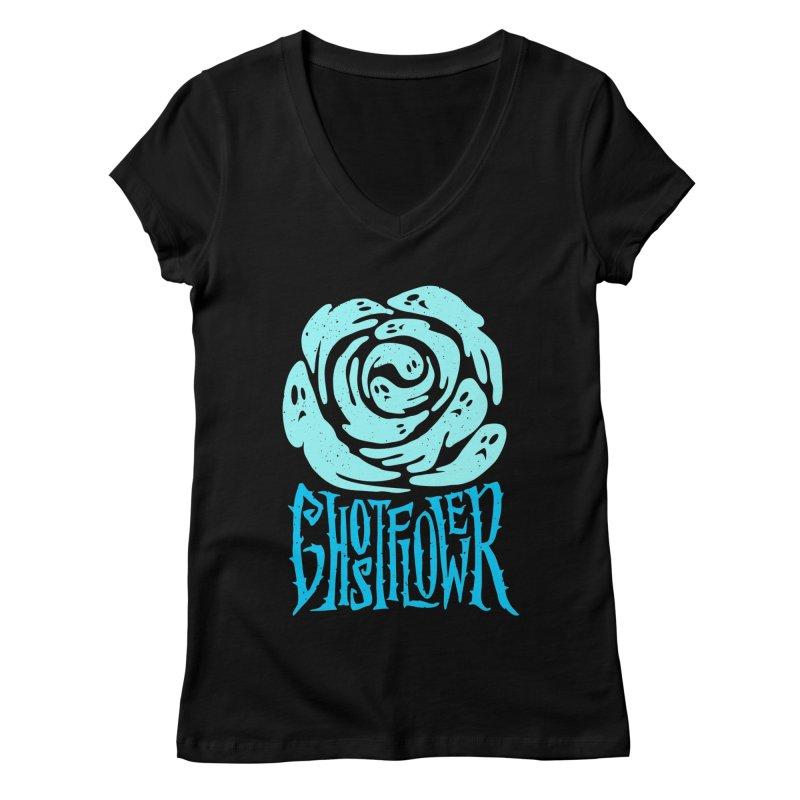 GhostFlower Women's V-Neck by artfanat.shop