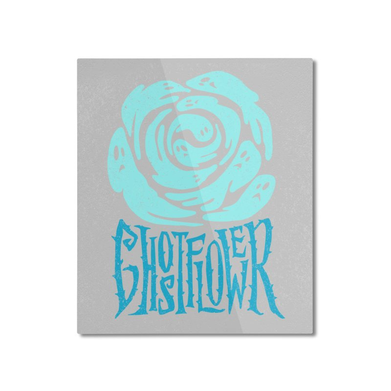 GhostFlower Home Mounted Aluminum Print by artfanat.shop