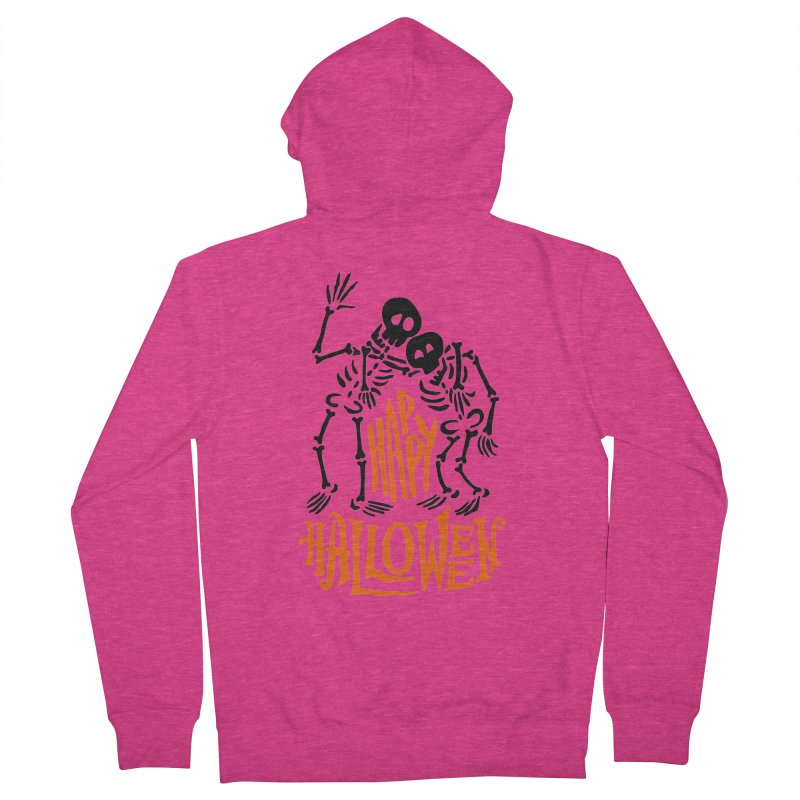 skeletons brothers  Women's French Terry Zip-Up Hoody by artfanat.shop