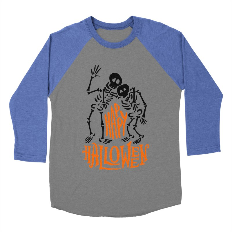 skeletons brothers  Women's Baseball Triblend Longsleeve T-Shirt by artfanat.shop