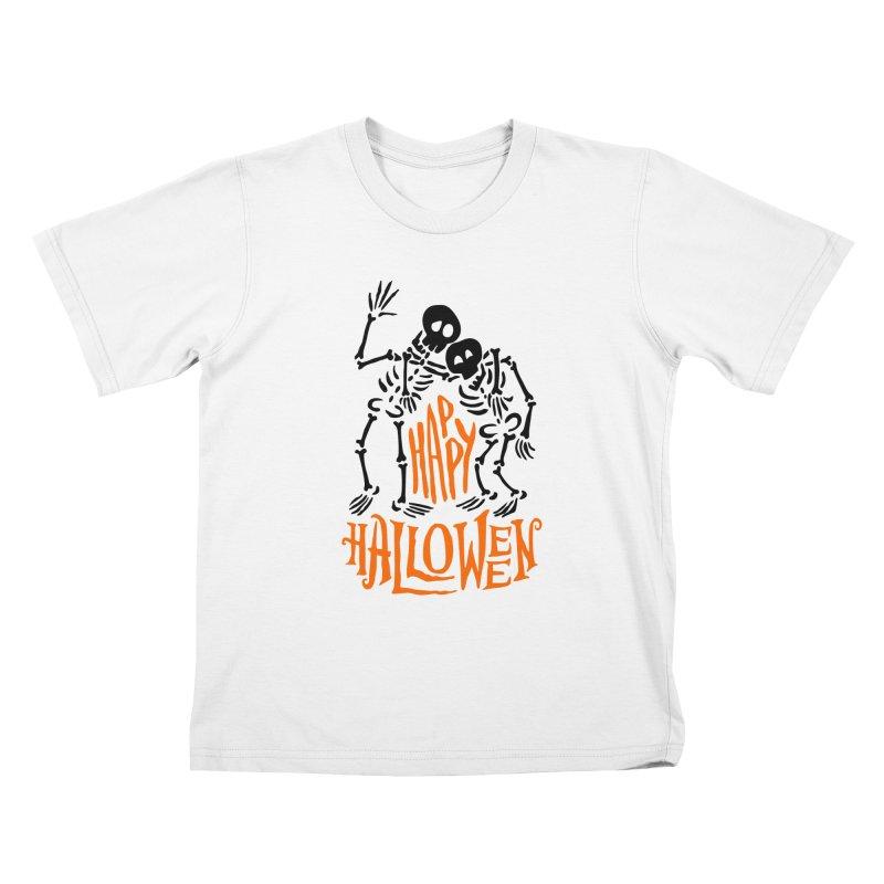 skeletons brothers  Kids T-Shirt by artfanat.shop