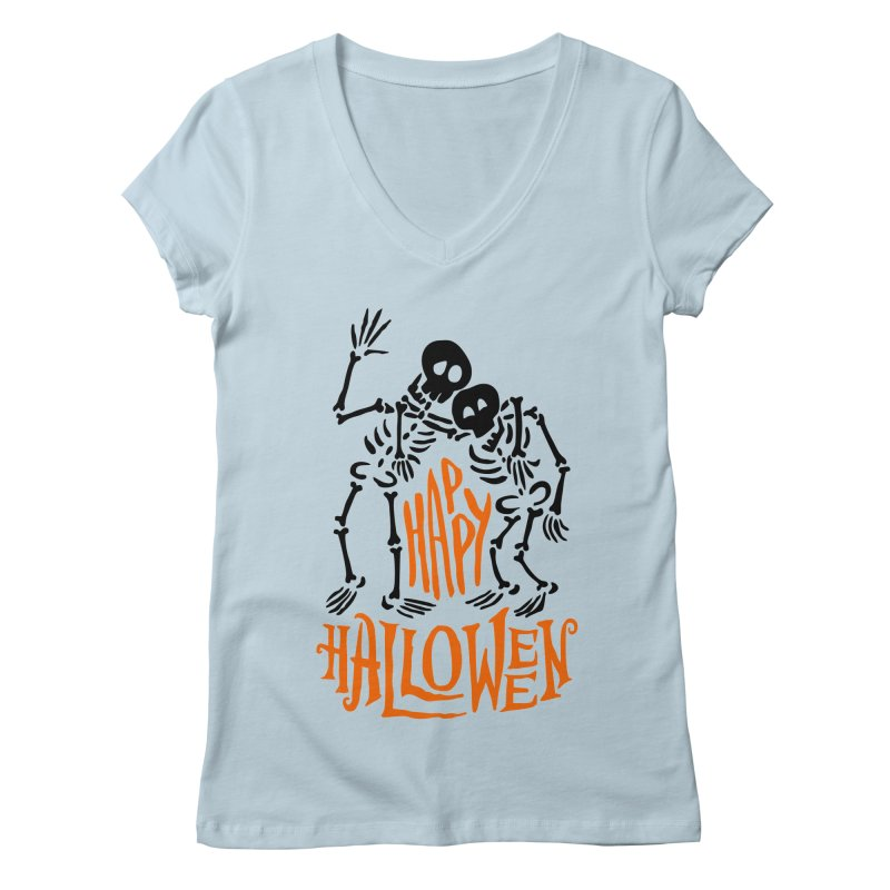 skeletons brothers  Women's V-Neck by artfanat.shop